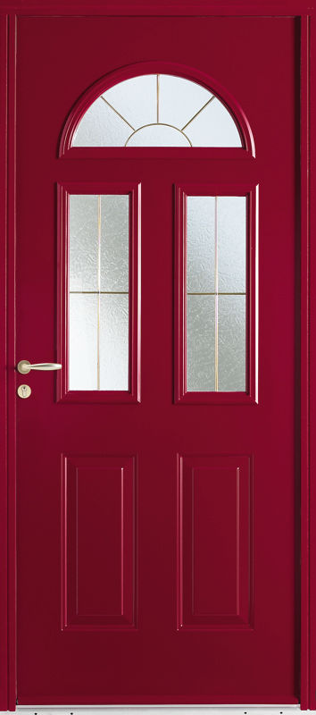 Zilten porte PVC Seattle rouge