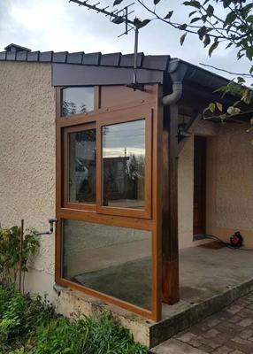 Fermeture d'une terrasse en PVC
