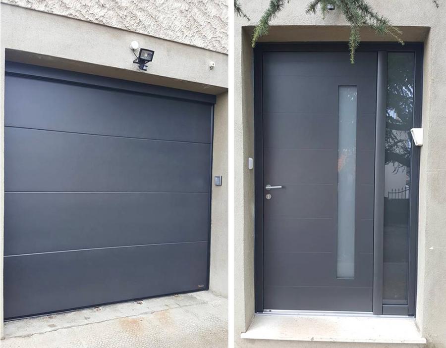 Rénovation porte d'entrée et porte de garage